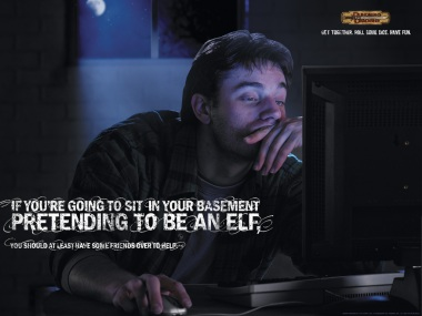 If you're going to spend all day in your basement pretending to be an Elf, you should at least have some friends around to do it
